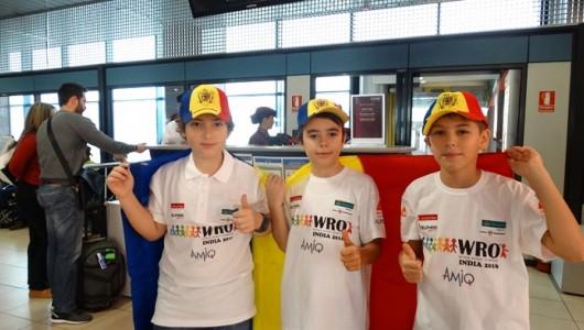 Echipa Romaniei la olimpiada de robotica